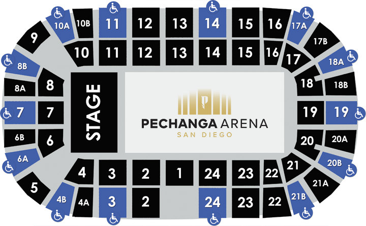 Accessible Seating Guide | Pechanga Arena San Diego