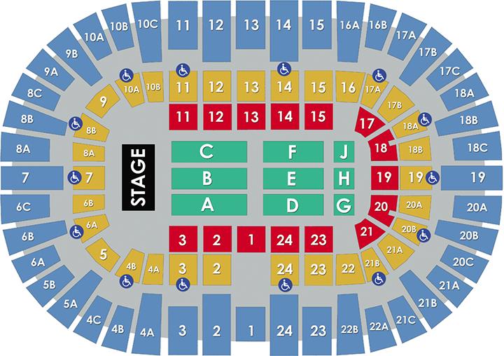 Pechanga Arena San Diego Concert Layout
