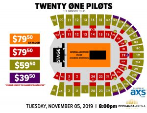 PASD Twenty One Pilots Layout