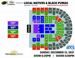PASD 91x Presents Local Natives & Black Pumas Layout