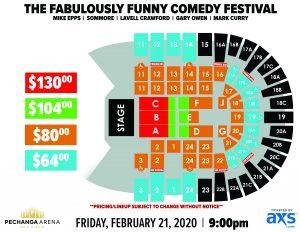 PASD Fabulously Funny Comedy Festival Layout
