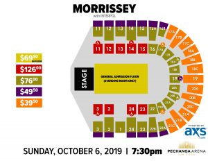 PASD General Admission Floor / Reserved Seating Layout