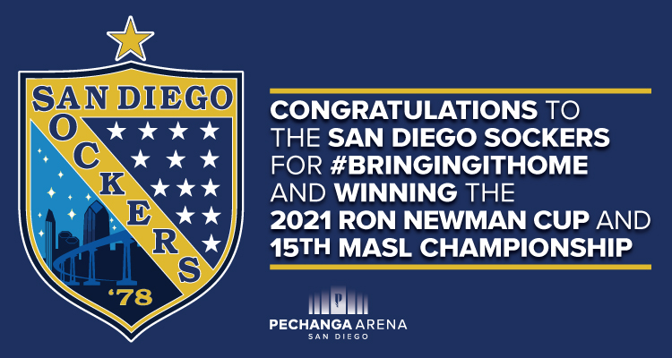 Congratulations to the San Diego Sockers for winning the 2021 Ron Newman Cup and 15th MASL Championship