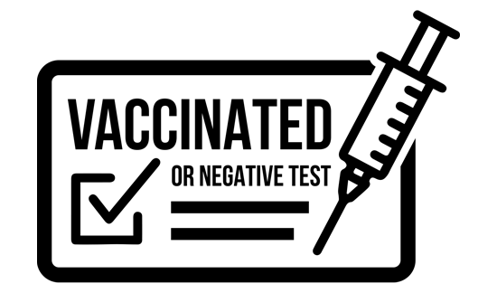 Vaccinated or negative test
