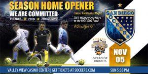 San Diego Sockers vs Syracuse Silver Knights