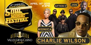 4th Annual San Diego Soul Music Festival feat. Charlie Wilson, Joe, after 7 & Monica