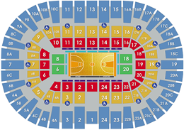 Pechanga Arena San Diego - Basketball Layout