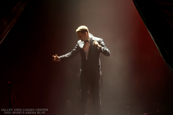 Michael Buble performs on November 26, 2013  at the Valley View Casino Center in San Diego,  California