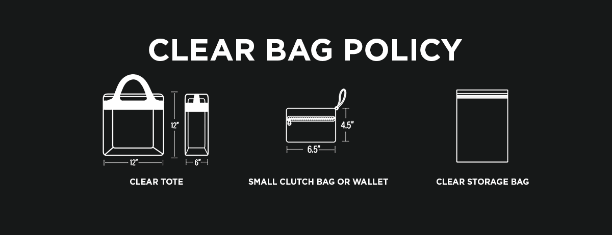 Clear Bag Policy at the Valley View Casino Center