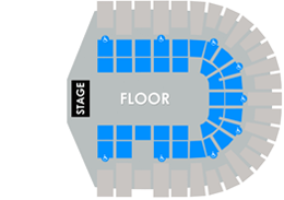 PASD General Admission Floor, No Reserved Seating Layout