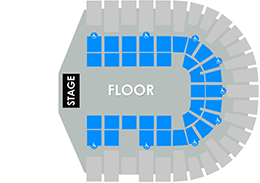 VVCC General Admission Floor/No Reserved Seating  Layout