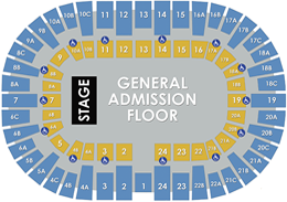 Pechanga Arena San Diego - General Admission Layout