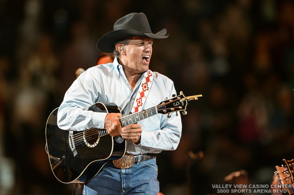 "George Strait  performs on January 31, 2014 during his ""The Cowboy Rides Away"" tour at Valley View Casino Center in San Diego,  California"